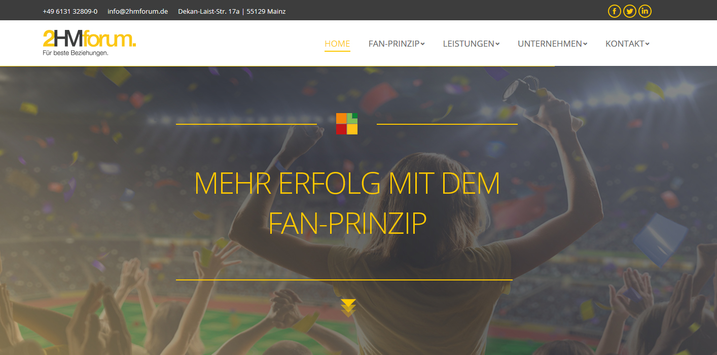 Webseite der 2HMforum. GmbH